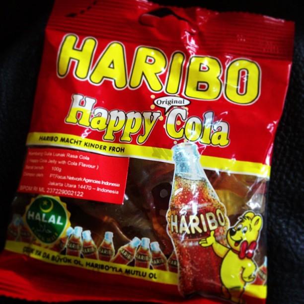バリのお土産にHARIBO happy cola Rp.22000 - バリ島インスタグラム